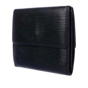 Louis Vuitton Black Epi Ludlow Wallet